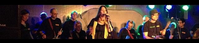 Samba enredo auf der Bühne